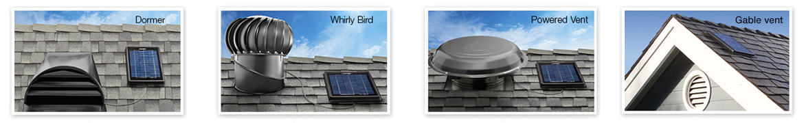 Works with Dormer Vents, Whirly Bird Vents, Electric Powered Vents and Gable Vents