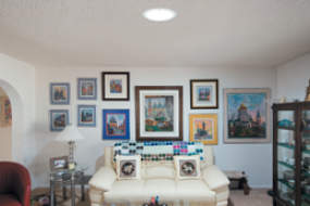 Living room with 160 DS Daylighting System